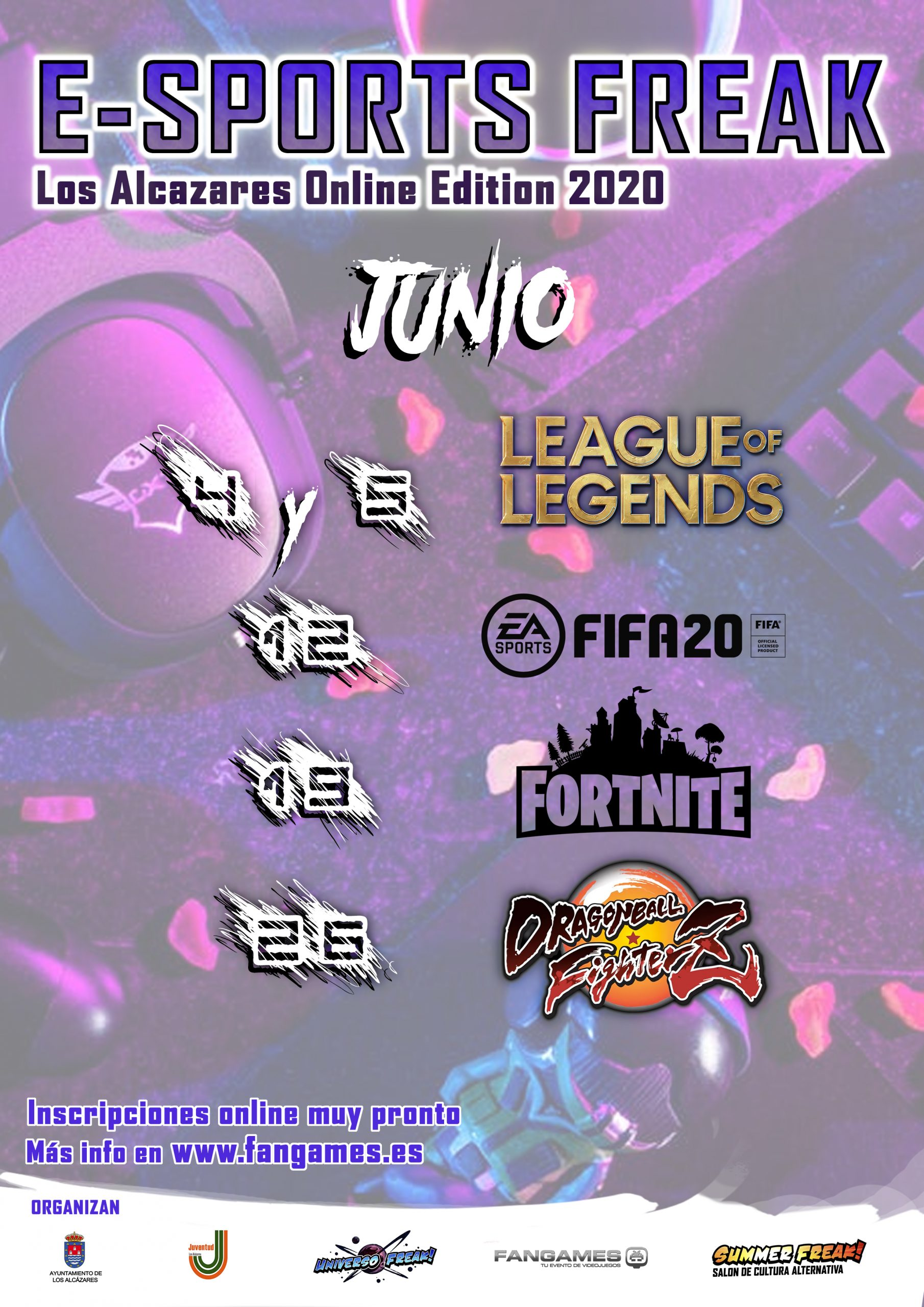 CARTEL E-SPORTS FREAK 2020 LOS ALCAZARES